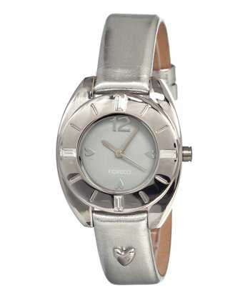 Silver Heart Watch