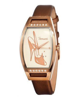 Cream High-Heel Mirror Watch