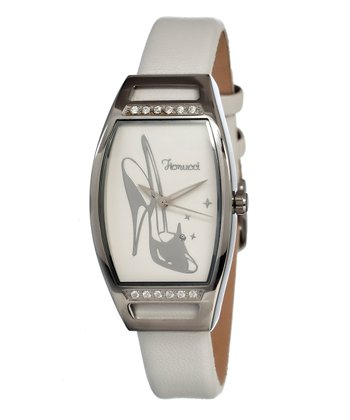 White High-Heel Mirror Watch