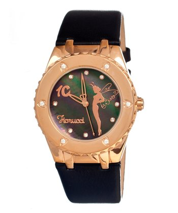 Charcoal & Gold Leather Fairy Watch