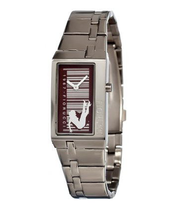 Silver & Brown Fun Watch