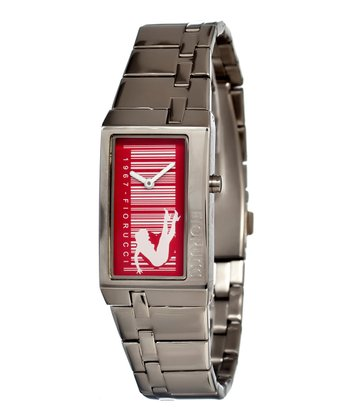 Silver & Red Fun Watch