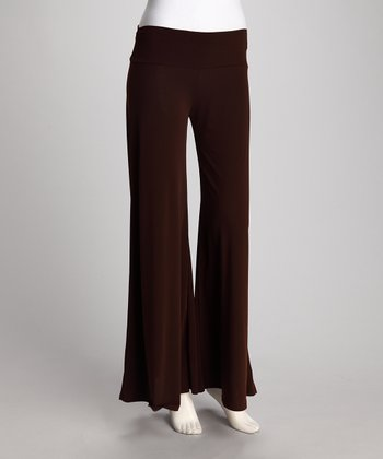 Brown Palazzo Pants - Women & Plus