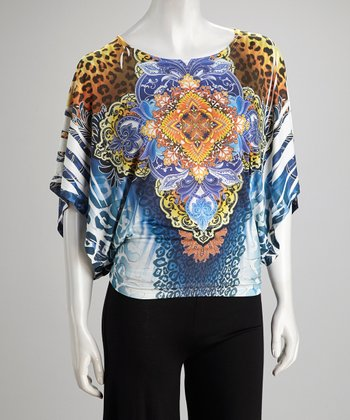 Blue Sublimation Dolman Top