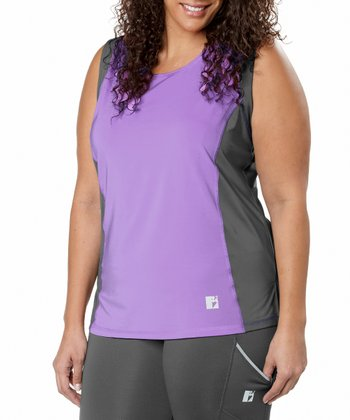 Lavender Color Block Tank - Plus