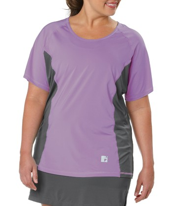Lavender Color Block Tee - Plus