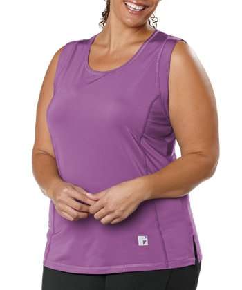 Lavender Power Mesh Tank - Plus