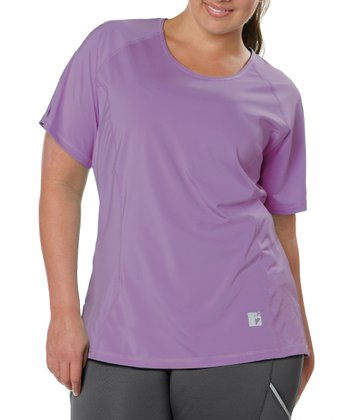 Lavender Power Mesh Tee - Plus