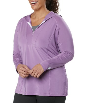 Lavender Hooded Pullover - Plus