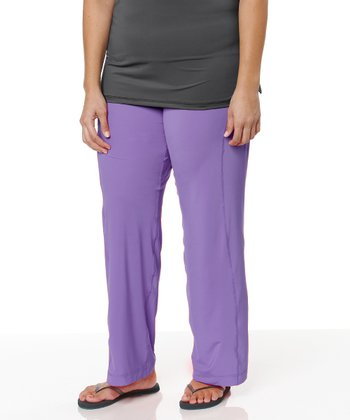 Lavender Yoga Pants - Plus