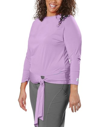 Lavender Tie-Front Top - Plus