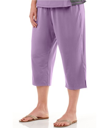 Lavender Capri Lounge Pants - Plus
