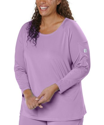 Lavender Scoop Neck Tee - Plus