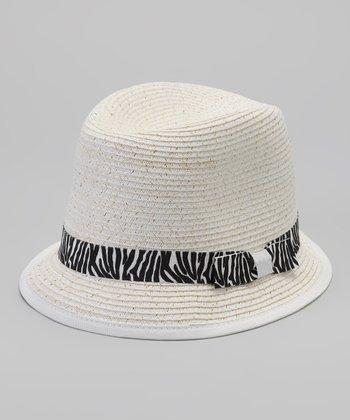 Ivory & Zebra Fedora