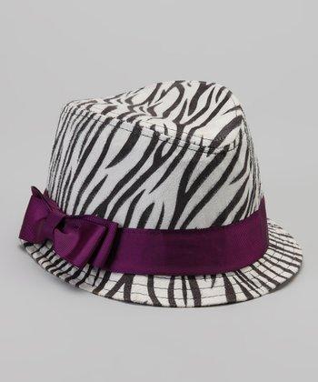 Black & Purple Zebra Fedora