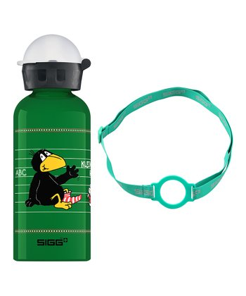 Kleiner Rabe Socke 123 13-Oz. Water Bottle & Green Carrying Strap
