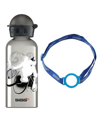 Skatemania 13-Oz. Water Bottle & Blue Carrying Strap