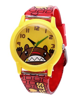 Red 'I Heart Waffles' Watch