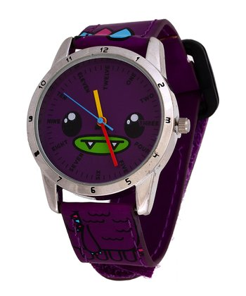 Purple Puff Face Watch