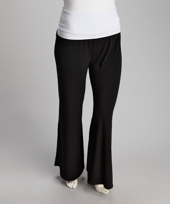 Black & White Maxim Pants - Plus