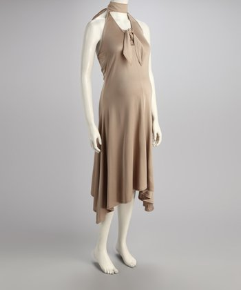 Wet Shale Silk Marilyn Maternity Dress