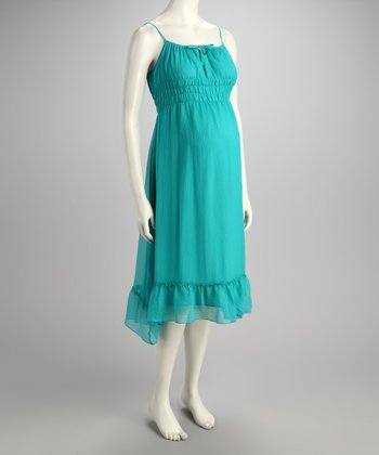 Sky Blue Silk Maternity Party Dress
