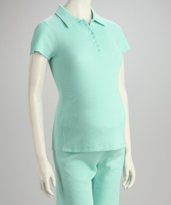 Aqua Maternity Collared Henley Top
