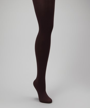 Chocolate Opaque Maternity Tights