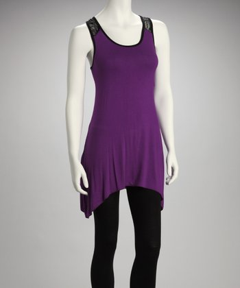Purple Racerback Sidetail Tunic