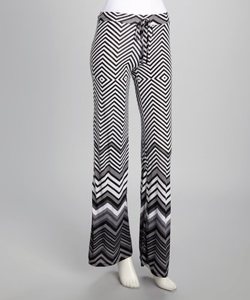Black Illusion Stripe Lounge Pants