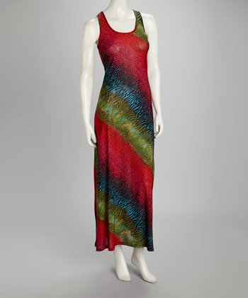 Rainbow Racerback Maxi Dress
