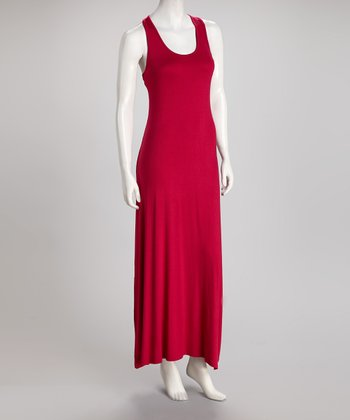 Raspberry Racerback Maxi Dress