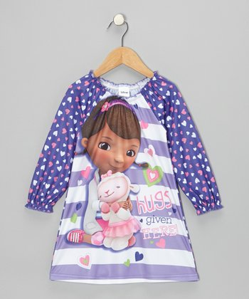 Purple 'Hugs Given Here!' Nightgown - Toddler