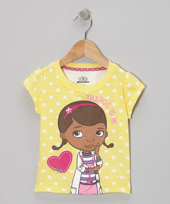 Yellow Polka Dot Doc McStuffins Tee - Toddler & Girls