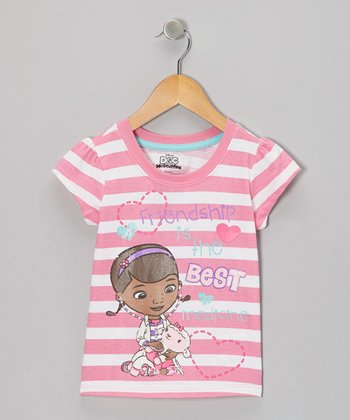 Pink Stripe Doc McStuffins Tee - Toddler & Girls