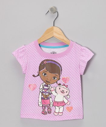 Lavender Polka Dot Doc McStuffin Tee - Toddler