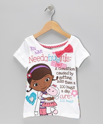White 'Needahugitis' Doc McStuffins Tee - Toddler & Girls