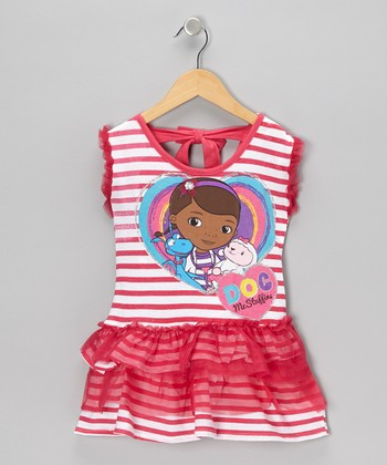 Pink Stripe Doc McStuffins Tutu Dress - Girls