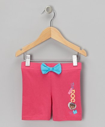 Pink 'The Doc Is In' Bow Shorts - Toddler & Girls