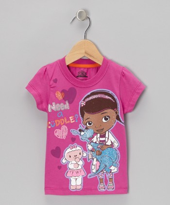 Dark Pink 'Need a Cuddle?' Doc McStuffins Tee - Toddler & Girls