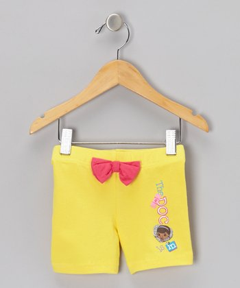 Yellow Bow 'The Doc Is In' Shorts - Toddler & Girls