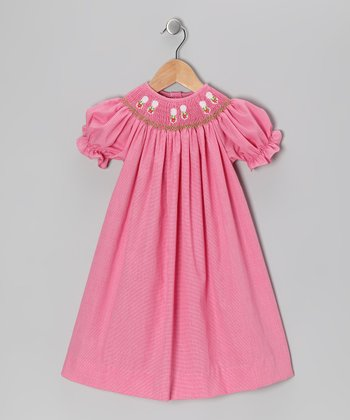 Pink Flip-Flop Bishop Dress - Infant & Toddler