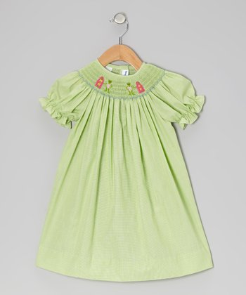 Green Surfing Frog Bishop Dress - Infant, Toddler & Girls