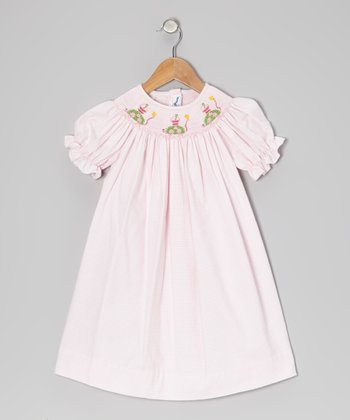 Light Pink Gingham Sand Turtle Bishop Dress - Infant & Toddler