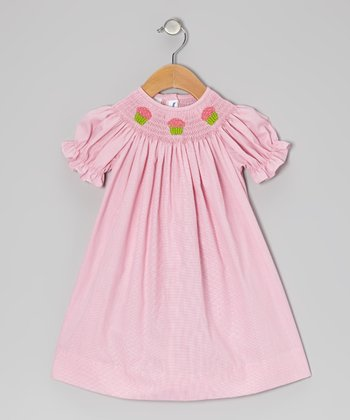 Pink Gingham Cupcake Bishop Dress - Infant & Toddler