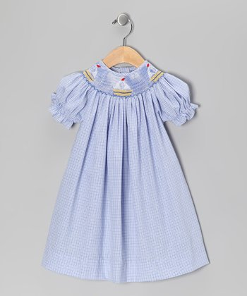 Purple Plaid Sailboat Bishop Dress - Infant, Toddler & Girls