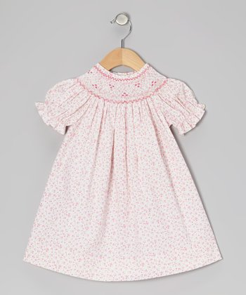 Pink Valeria Floral Bishop Dress - Infant, Toddler & Girls