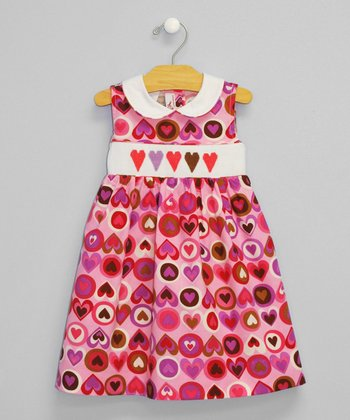 Pink Heart Smocked Dress - Infant & Toddler