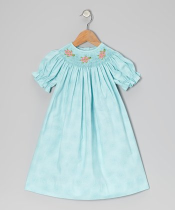 Turquoise Sea Turtle Bishop Dress - Infant & Toddler