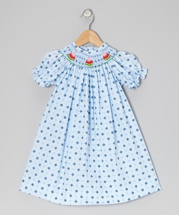 Blue Diamond Watermelon Bishop Dress - Infant, Toddler & Girls